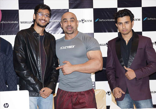 Press conference at Chandigarh with Puneet Sandhu (3 times Mr.Noth India)