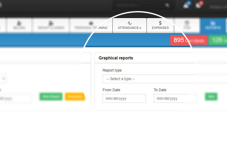 graph reports in gym software
